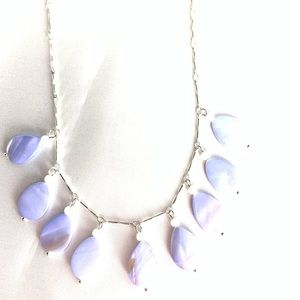 NEW‼️Charming Charlie lilac+silver necklace